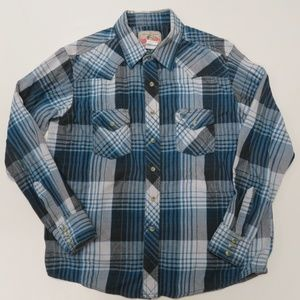 Wrangler Western Pearl Snap Shirt Blue Plaid